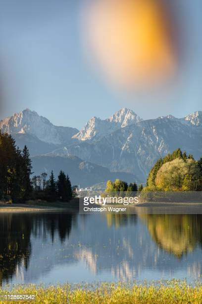 allgäu - hopfensee - sonne stock pictures, royalty-free photos & images