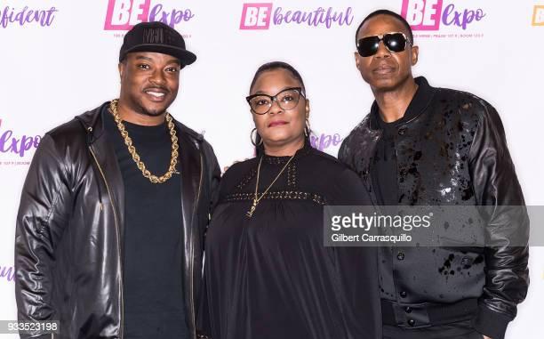 AllHipHopcom cofounder and coCEO Chuck 'Jigsaw' Creekmur rappers Roxanne Shante and record producer Doug E Fresh aka 'The Human Beat Box' attend the...