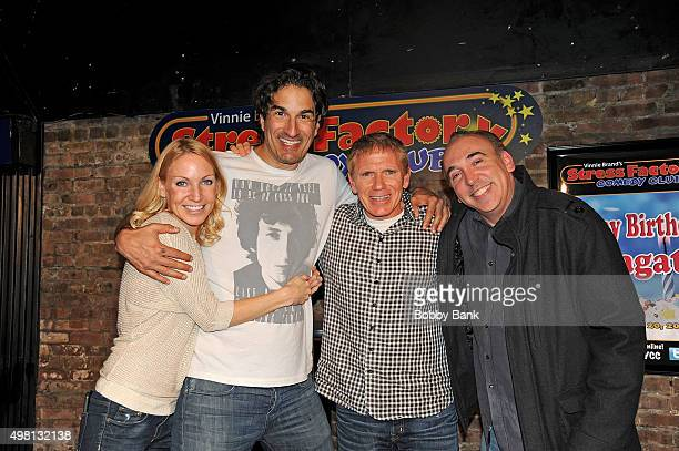 Alli Breen Gary Gulman and Vinnie Brand perform at The Stress Factory Comedy Club on November 20 2015 in New Brunswick New Jersey