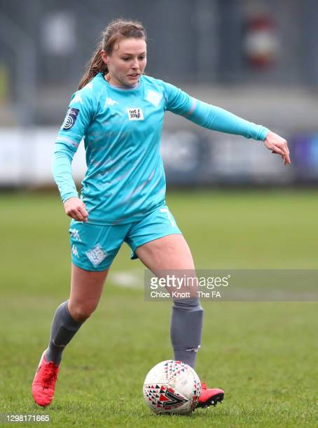 Alli Murphy of London City runs with the ball during the Barclays FA Women's Championship match between London City Lionesses and Blackburn Ladies at...