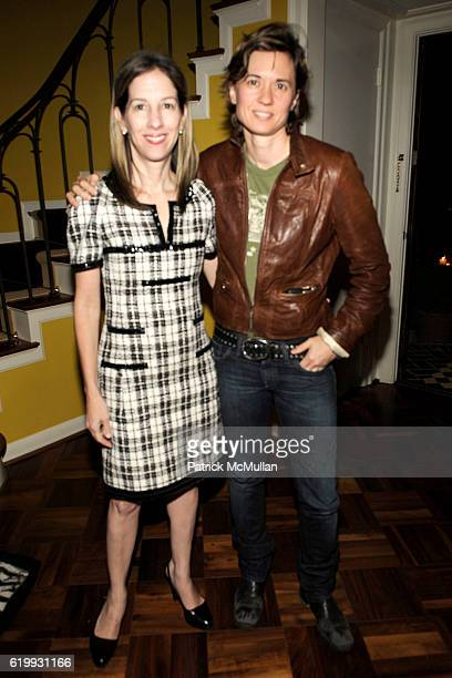 Alli Shearmur and Kimberly Peirce attend Ghetto Film School West Coast Benefit 2008 at Private Residence on October 16 2008 in Los Angeles Ca
