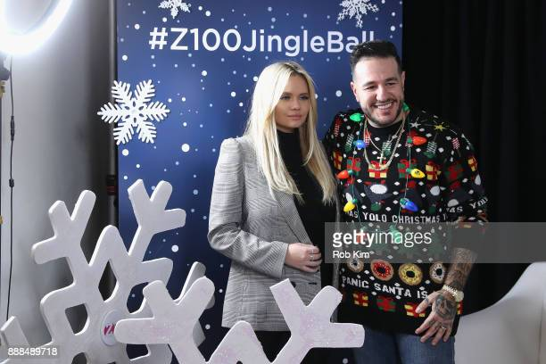 Alli Simpson and Mo'Bounce attend the Z100 CocaCola All Access Lounge at Hammerstein Ballroom on December 8 2017 in New York City