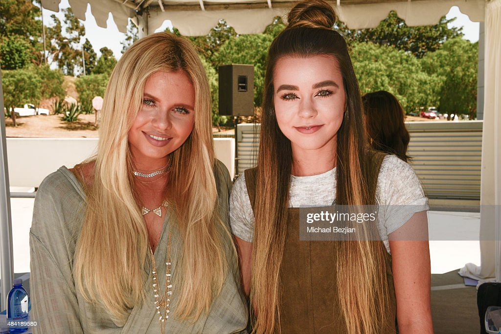 Alli Simpson and Sierra Furtado attend American Idol Auditions At bBooth on August 15, 2015 in Culver City, California.