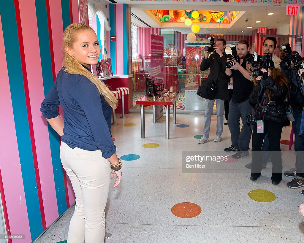 Alli Simpson attends Alli Simpson Signature Nail Series Launch Event at Dylan's Candy Bar on March 28, 2013 in New York, New York.