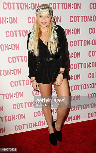 Alli Simpson attends Cody Simpson Celebrates I Give A Brick Campaign at Cotton On on December 16 2014 in Santa Monica California