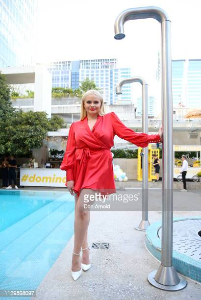 Alli Simpson attends the Bumble Valentine's Day party at The Ivy Pool Club on February 14 2019 in Sydney Australia