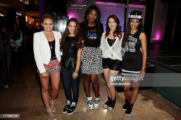Alli Simpson Madison Pettis Coco JonesKatie Armiger and Jessica Jarrell attend the Pastry Fashion Show with 1U mission at the Fashion Show mall on...