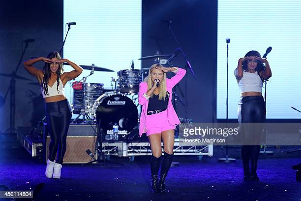 Alli Simpson performs during the Nickelodeon Slimefest 2014 matinee show at Sydney Olympic Park Sports Centre on September 26 2014 in Sydney Australia