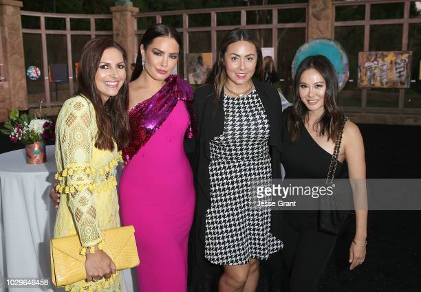 Alli Sims Beau Dunn Sabrina Sandoval and Maureen Lee attend Art Of Elysium's Pieces Of Heaven on September 8 2018 in Los Angeles California