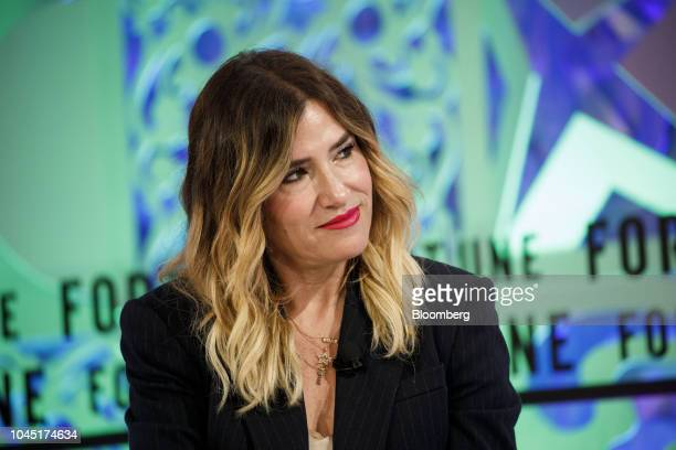 Alli Webb founder of Drybar Holdings LLC listens during the Fortune's Most Powerful Women conference in Dana Point California US on Wednesday Oct 3...