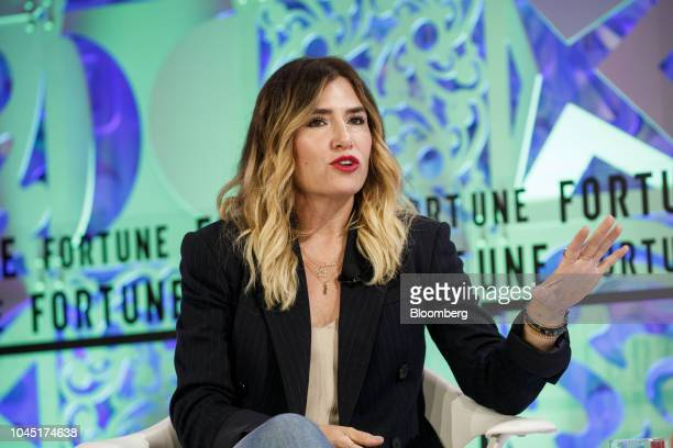 Alli Webb founder of Drybar Holdings LLC speaks during the Fortune's Most Powerful Women conference in Dana Point California US on Wednesday Oct 3...