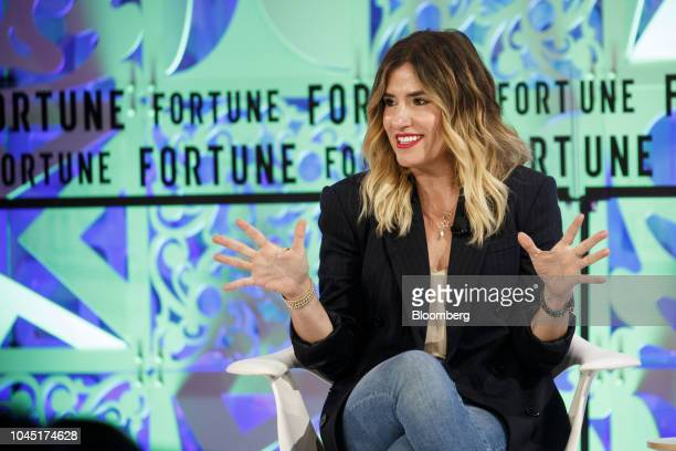 Alli Webb founder of Drybar speaks during the Fortune's Most Powerful Women conference in Dana Point California US on Wednesday Oct 3 2018 The...
