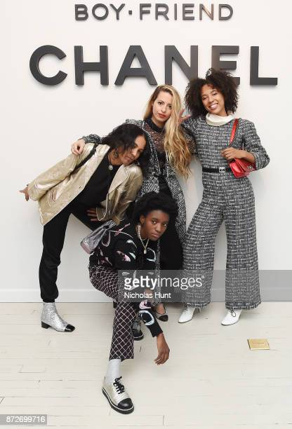 Alliah Sophia Mourad Kabrina Adams Crystal Moselle and Dede Lovelace wearing CHANEL attend as CHANEL celebrates the launch of the Coco Club a...