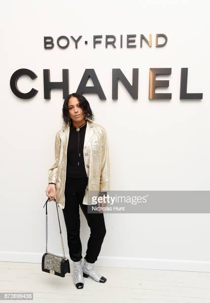 Alliah Sophia Mourad wearing CHANEL attends as CHANEL celebrates the launch of the Coco Club a BoyFriend Watch event at The Wing Soho on November 10...