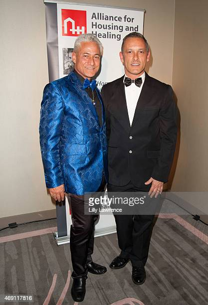 Alliance for Housing and Healing Honorees Greg Louganis and Johnny Chaillot attend Alliance For Housing And Healing 2015 A Faire Of The Heart Gala at...
