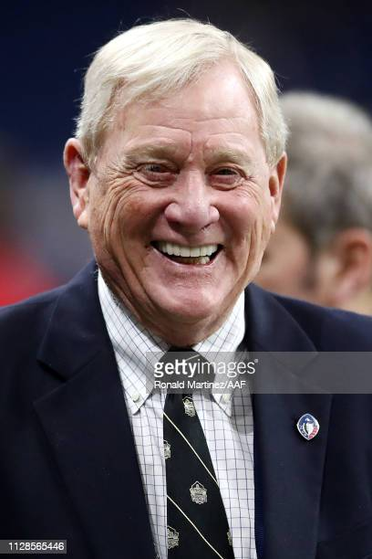 Alliance of American Football cofounder Bill Polian stands on the field prior to an Alliance of American Football game between the San Diego Fleet...