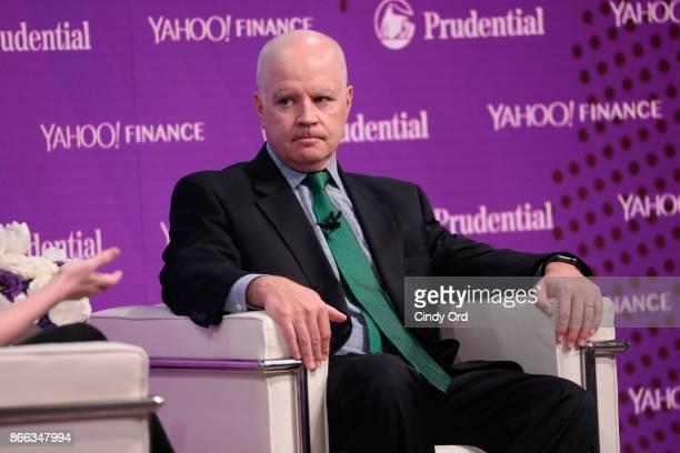 AllianceBernstein Partner CIO of Fixed Income Douglas J Peebles speaks onstage at the Yahoo Finance All Markets Summit on October 25 2017 in New York...