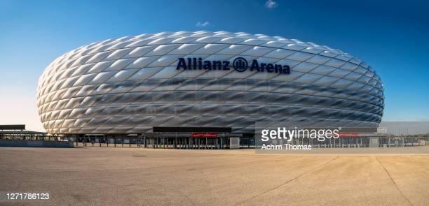 allianz arena, munich, germany, europe - achim thomae stock-fotos und bilder