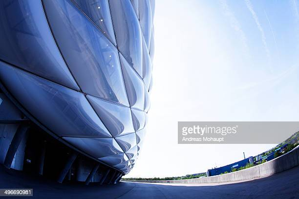 CONTENT] Allianz Arena partial detail view Munich Bavaria Germany