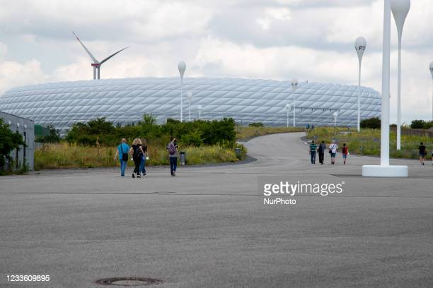 Allianz Arena. The Bavarian capital Munich on the matchday of the Euro 2020 match Germany Hungary on June 23, 2021. The Munich city council wanted to...