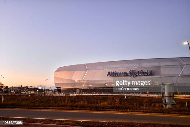 estádio de futebol de campo da allianz - minnesota - fotografias e filmes do acervo