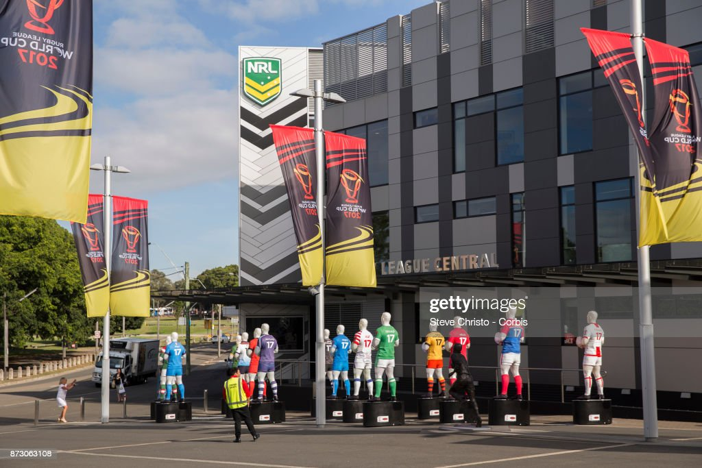 Allianz Stadium and Rugby League Central are dressed for the Rugby League World Cup match at The Sydney Cricket Ground on November 10, 2017 in Sydney, Australia.
