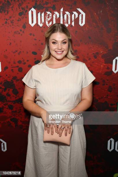 Allie Athanasio attends a Special Fan Screening of 'OVERLORD' at Event Cinemas George Street on September 29 2018 in Sydney Australia