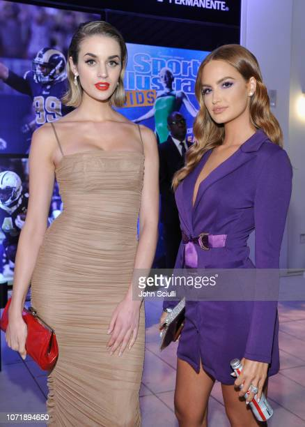 Allie Ayers and Haley Kalil attend Sports Illustrated 2018 Sportsperson of the Year Awards Show on Tuesday December 11 2018 at The Beverly Hilton in...