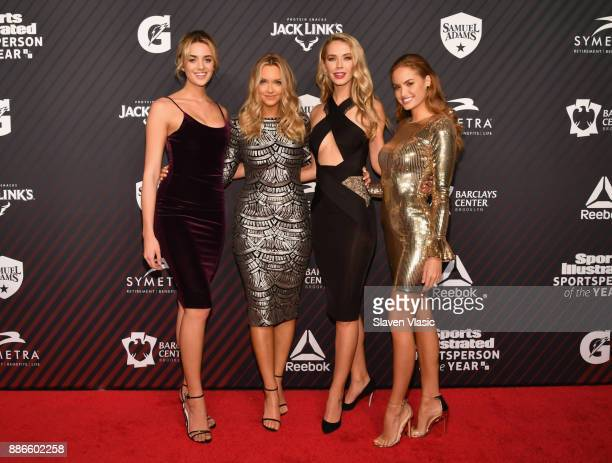 Allie Ayers Camille Kostek Olvia Jordan and Haley Kalil attend SPORTS ILLUSTRATED 2017 Sportsperson of the Year Show on December 5 2017 at Barclays...