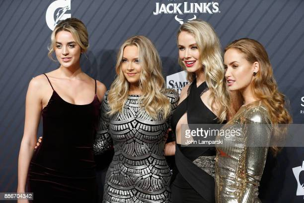 Allie Ayers Camillle Kostek Olivia Jordan and Haley Kalil attend 2017 Sports Illustrated Sportsperson of the Year Awards at Barclays Center on...