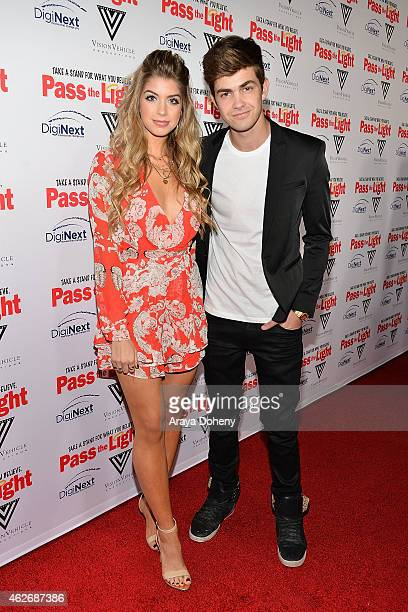 Allie DeBerry and Cameron Palatas attend the 'Pass The Light' film premiere presented by Vision Vehicle Productions and DigiNext at ArcLight...