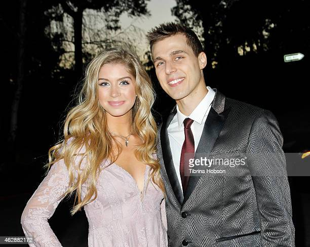 Allie DeBerry and Cody Linley attend the 'Hoovey' Los Angeles premiere at Bel Air Presbyterian Church on January 24 2015 in Los Angeles California