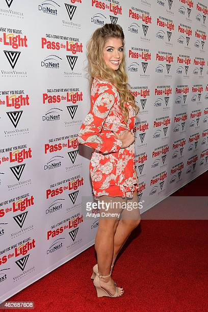 Allie DeBerry attends the 'Pass The Light' film premiere presented by Vision Vehicle Productions and DigiNext at ArcLight Hollywood on February 2...