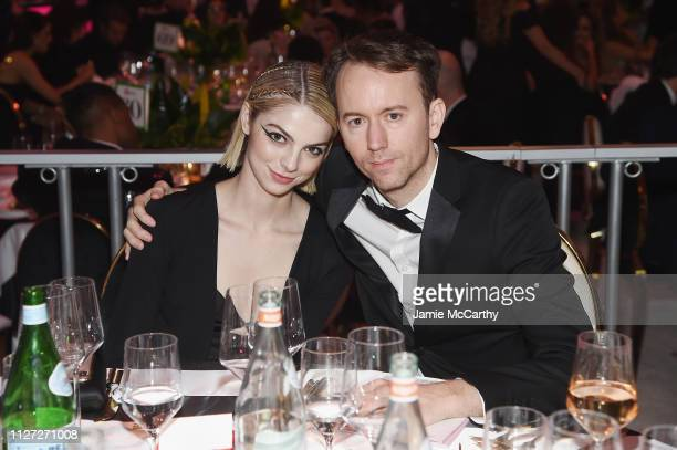 Allie Evans and Tyler Shields attend the 27th annual Elton John AIDS Foundation Academy Awards Viewing Party sponsored by IMDb and Neuro Drinks...