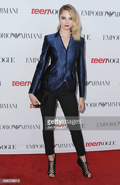 Allie Evans arrives at the Teen Vogue Young Hollywood Party on September 26 2014 in Los Angeles California