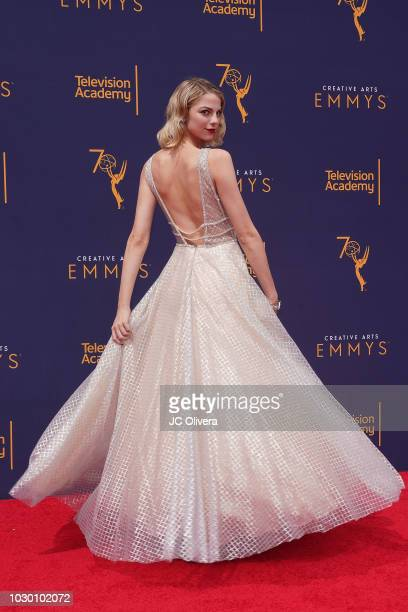 Allie Evans attends the 2018 Creative Arts Emmy Awards at Microsoft Theater on September 9 2018 in Los Angeles California