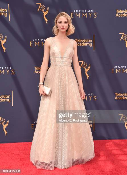 Allie Evans attends the 2018 Creative Arts Emmys Day 2 at Microsoft Theater on September 9 2018 in Los Angeles California