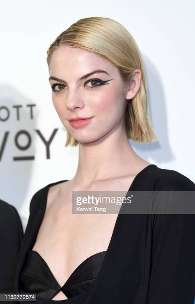 Allie Evans attends the 27th annual Elton John AIDS Foundation Academy Awards Viewing Party Celebrating EJAF And The 91st Academy Awards on February...