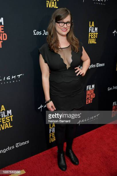 Allie Goertz arrives at the 2018 LAFF Blumhouse at The WGA Theater on September 21 2018 in Beverly Hills California