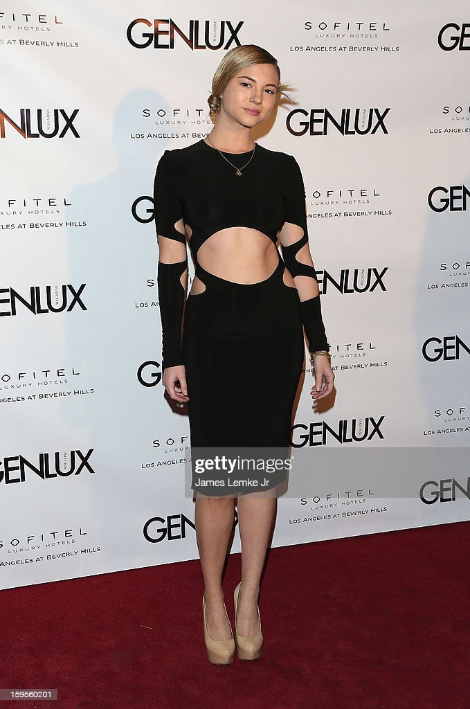 Allie Gonino attends the Genlux Cover Girl Kristin Chenoweth Celebrates Opening of new bar Riviera 31 at The Sofitel L.A. on January 15, 2013 in Beverly Hills, California.