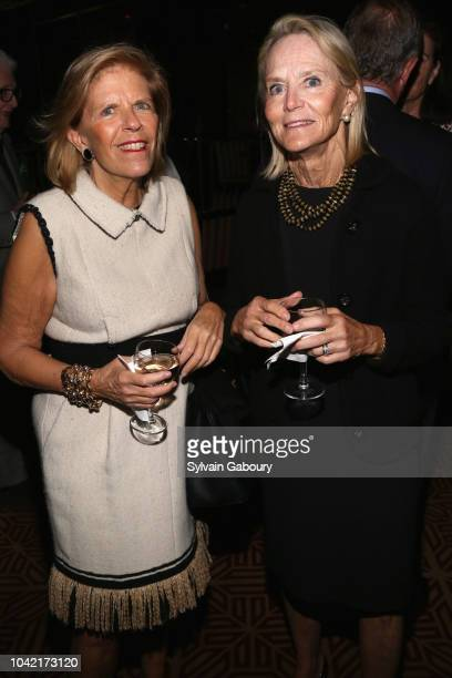 Allie Hanley and Jane Bunn attend David Patrick Columbia And Chris Meigher Toast The QUEST 400 At DOUBLES on September 27 2018 in New York City