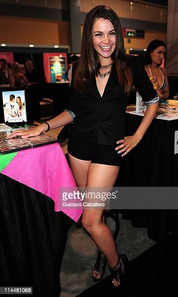 Allie Haze attends EXXXOTICA Miami Beach at the Miami Beach Convention Center on May 20 2011 in Miami Beach Florida