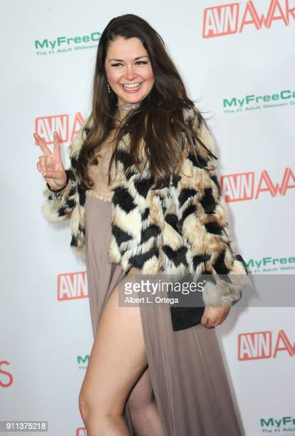 Allie Haze attends the 2018 Adult Video News Awards held at Hard Rock Hotel Casino on January 27 2018 in Las Vegas Nevada