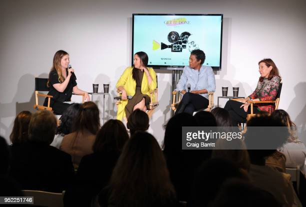 Allie Jones Olivia Milch Dawn Porter and Susanna White attend The Cut's 'How I Get It Done' event featuring Nespresso on April 27 2018 in New York...