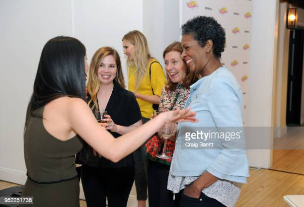 Allie Jones Susanna White and Dawn Porter attend The Cut's 'How I Get It Done' event featuring Nespresso on April 27 2018 in New York City