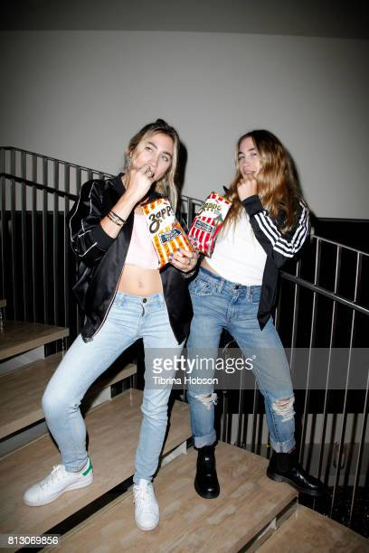 Allie Kaplan and Lexi Kaplan attend the Talent Resources Sports Party hosted by Martell Cognac at Playboy Headquarters on July 11 2017 in Los Angeles...