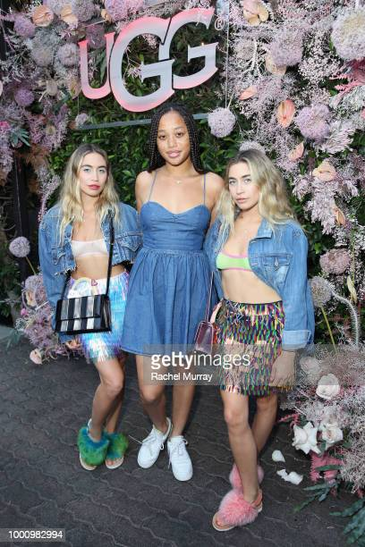 Allie Kaplan Salem Mitchell and Lexie Kaplan attend the A/W'18 UGG Collective Global Campaign Launch hosted by Sasha Lane at Rose Cafe on July 17...