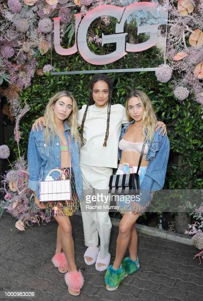 Allie Kaplan Sasha Lane and Lexie Kaplan attend the A/W'18 UGG Collective Global Campaign Launch hosted by Sasha Lane at Rose Cafe on July 17 2018 in...