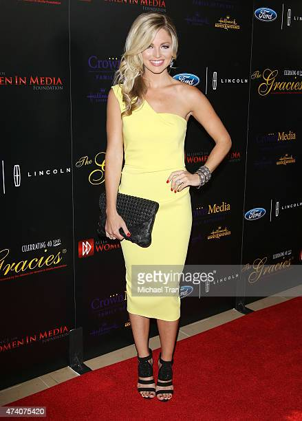 Allie LaForce arrives at the 40th Anniversary Gracies Awards held at The Beverly Hilton Hotel on May 19 2015 in Beverly Hills California