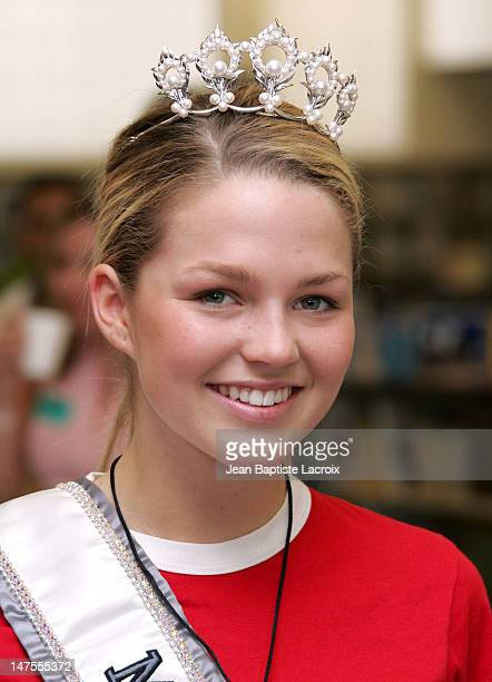Allie LaForce during Miss Universe Miss USA and Miss Teen USA Visit Best Buddies December 9 2005 at Coral Reef High School in Miami FL United States